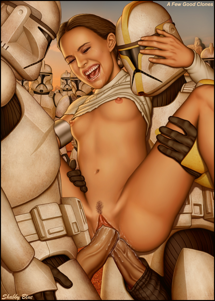 1girl 2boys anal anal_penetration attack_of_the_clones breasts clone_trooper clone_wars double_penetration nipples padme_amidala pussy sex shabby_blue star_wars threesome vaginal vaginal_penetration