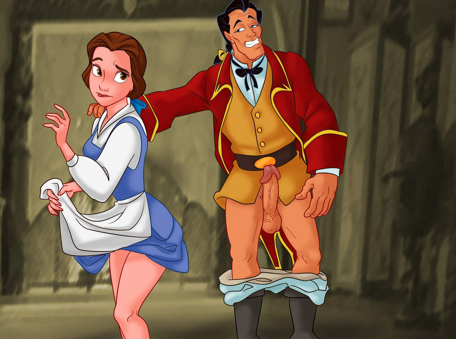 Beauty and the beast titflaviy belle gaston