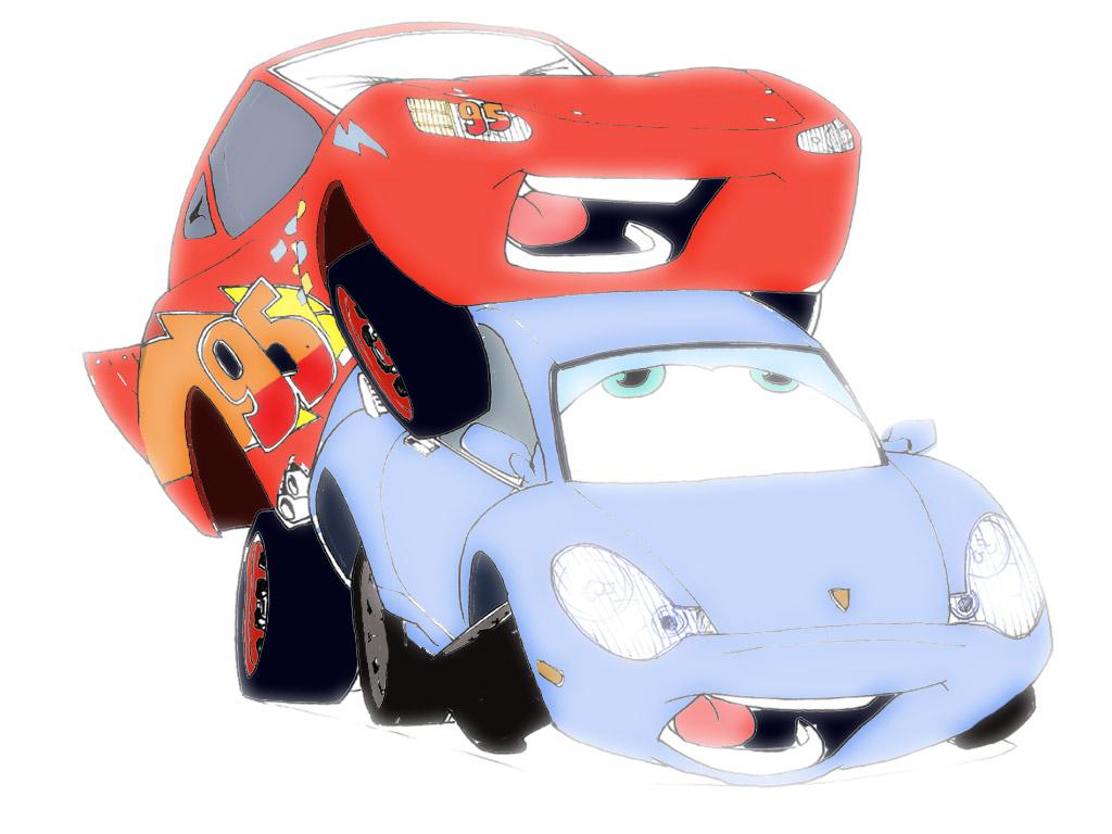 cars disney lightning_mcqueen pixar sally_carrera