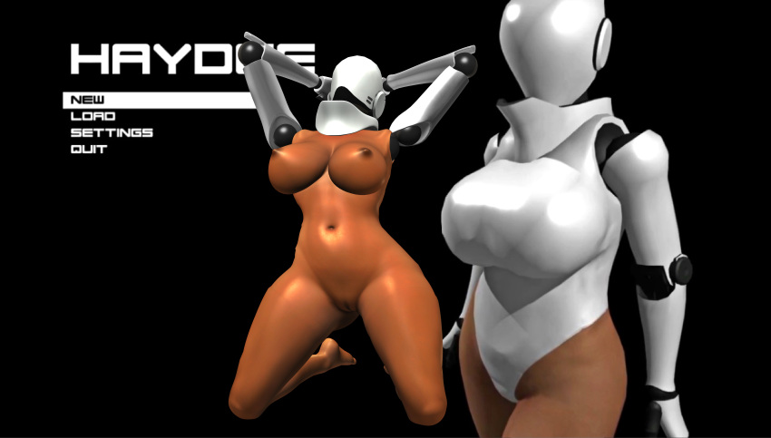 1girl 3d background big_breasts big_nipples breasts cyborg dark_skin feet female_solo foot games girls haydee haydee_(game) human large_breasts legs nipples nude posing render robot soles solo_female toes video_games xnalara xps