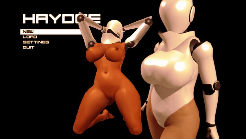 1girl 3d background big_breasts big_nipples breasts cyborg dark_skin feet female_solo foot games girl girls haydee haydee_(game) human large_breasts legs nude posing render robot soles solo_female toes video_games xnalara xps