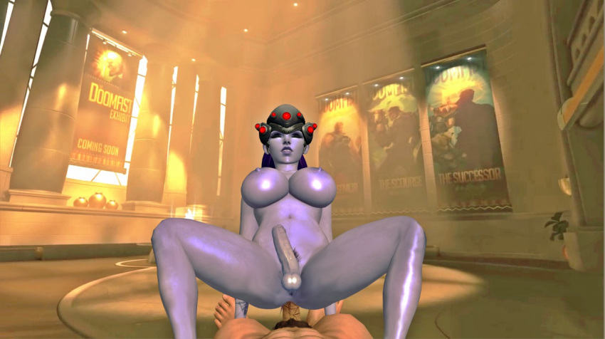 1_boy 1girl 3d anal anal_sex background breasts closed_eyes cock cowgirl dick dickgirl female female_solo fucking futa futanari games girl human legs male nipples nude oral oral_sex overwatch penis posiing purple_hair purple_skin render riding sex shemale soles solo solo_female toes video_games widowmaker xps