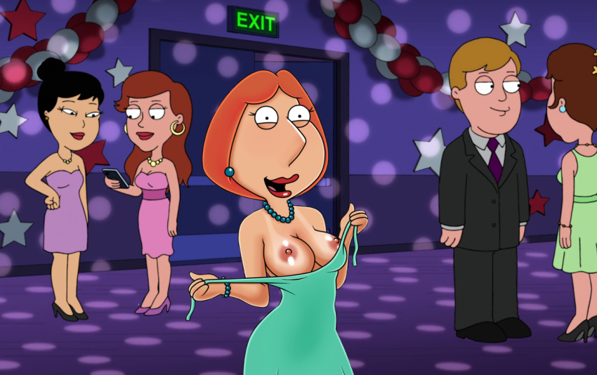 badbrains breasts erect_nipples family_guy flashing lois_griffin tan_line