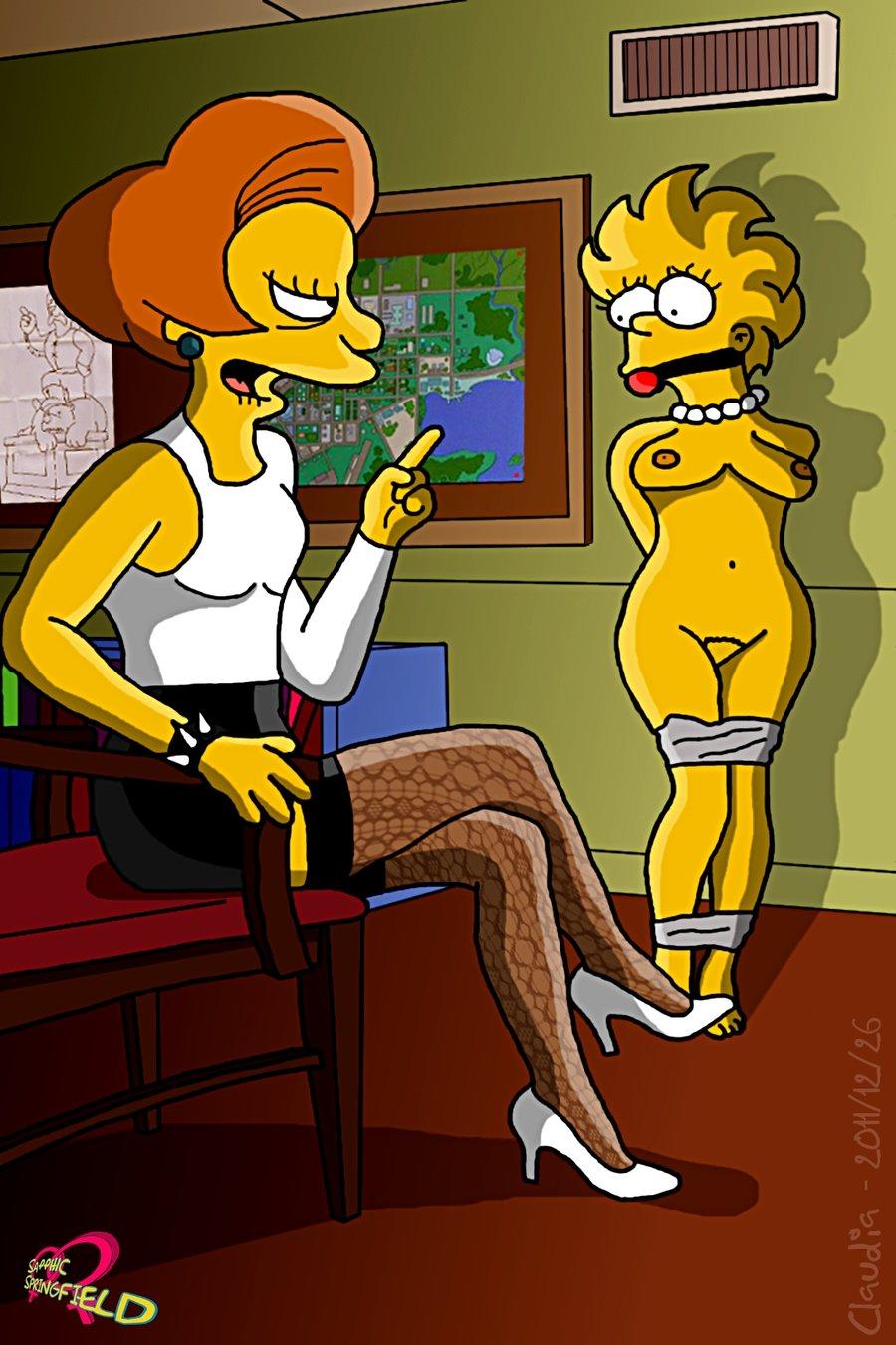 Simpsons naked teacher — photo 5