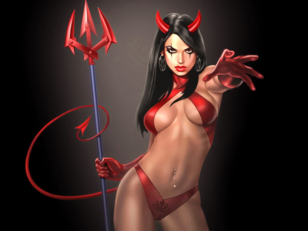 Sexy female devil nude, left for dead zoey nude