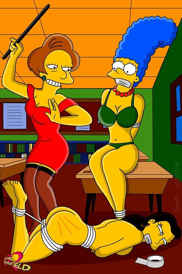 Marge simpson spank
