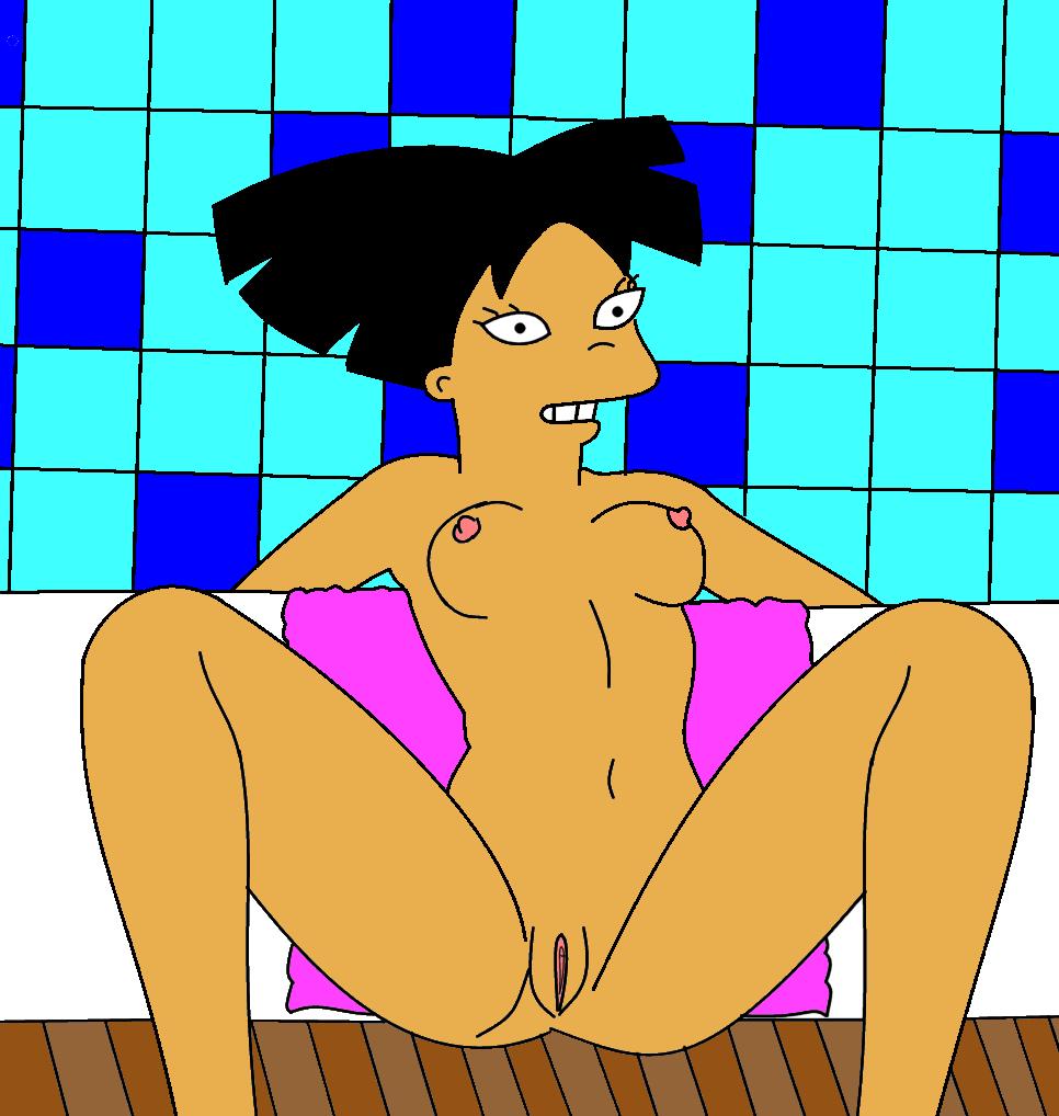 Amy Wong Porno xbooru amy wong bathroom breasts futurama nude spread