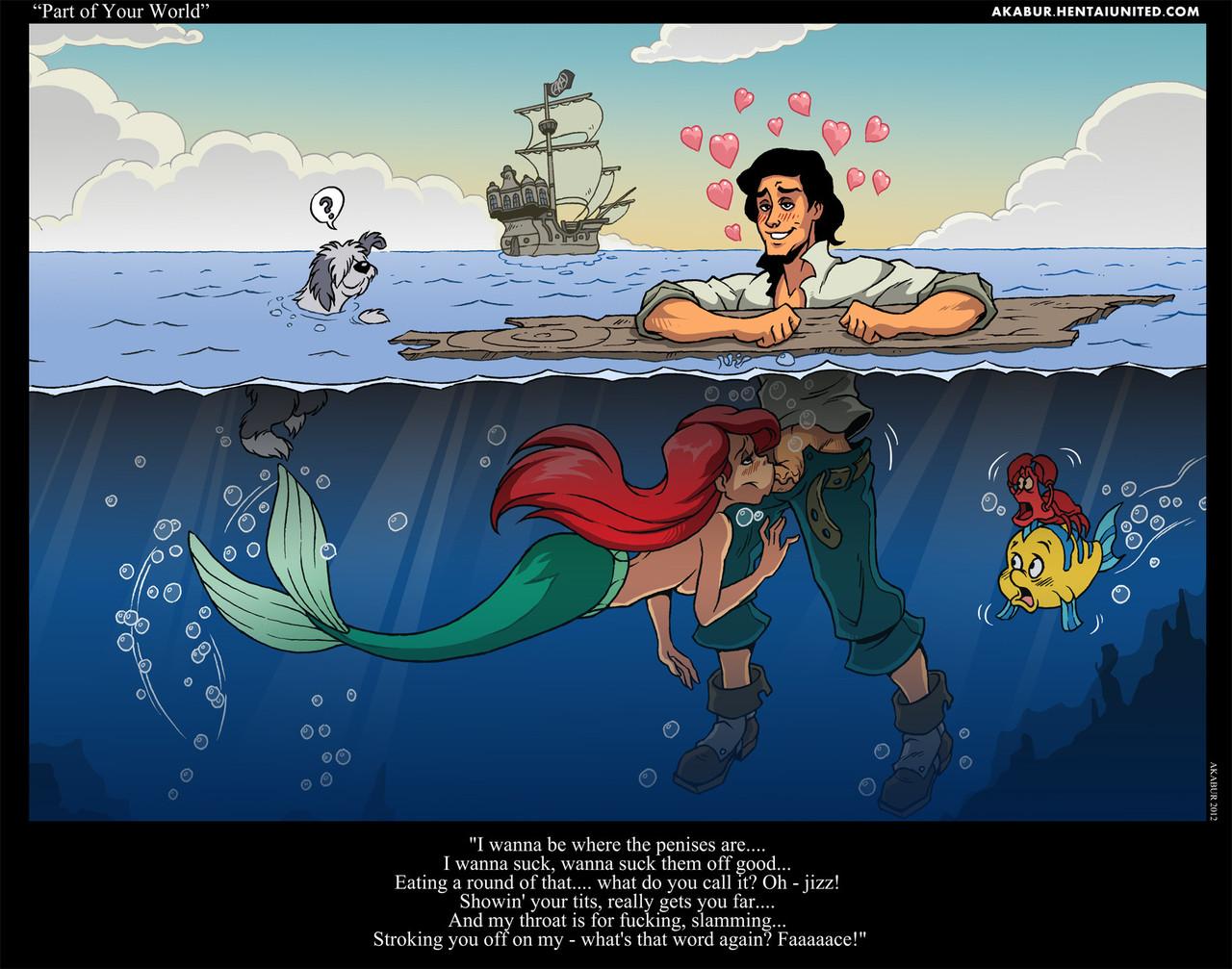 Mermaid blowjob