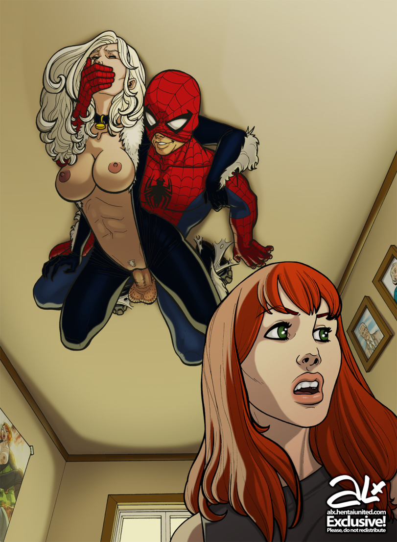 Black cartoon man sex spider