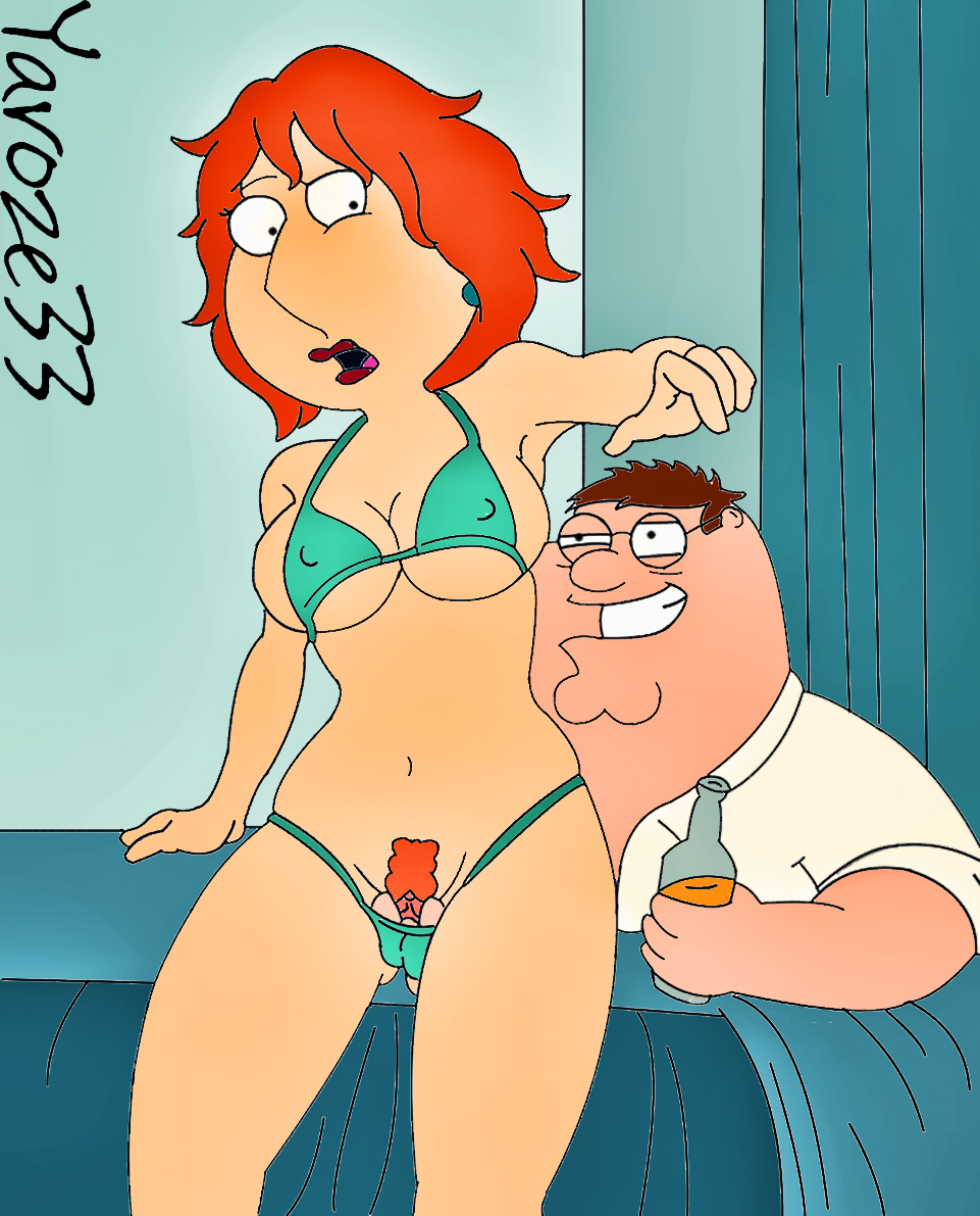 Peter griffin fucking, licking cum filled black pussy
