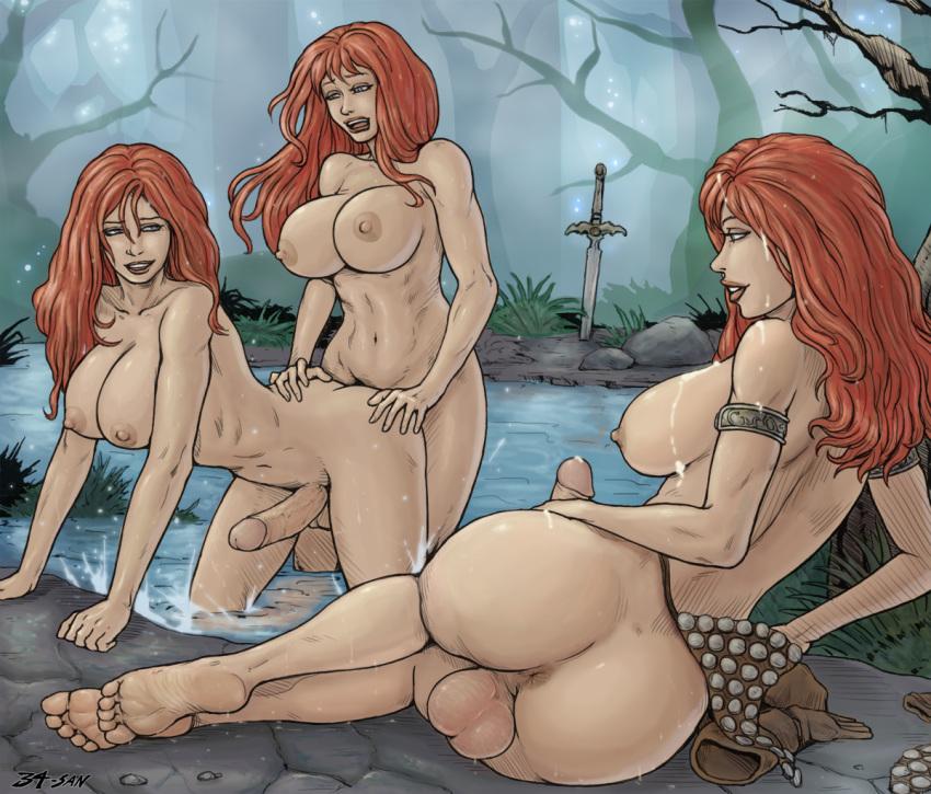 Naked redhead cartoon
