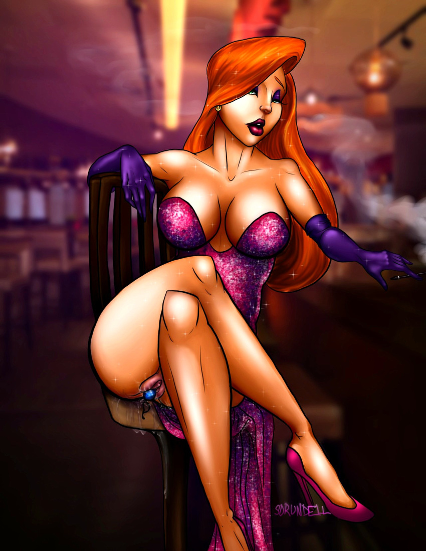 Jessica rabbit bent over a stool — pic 1