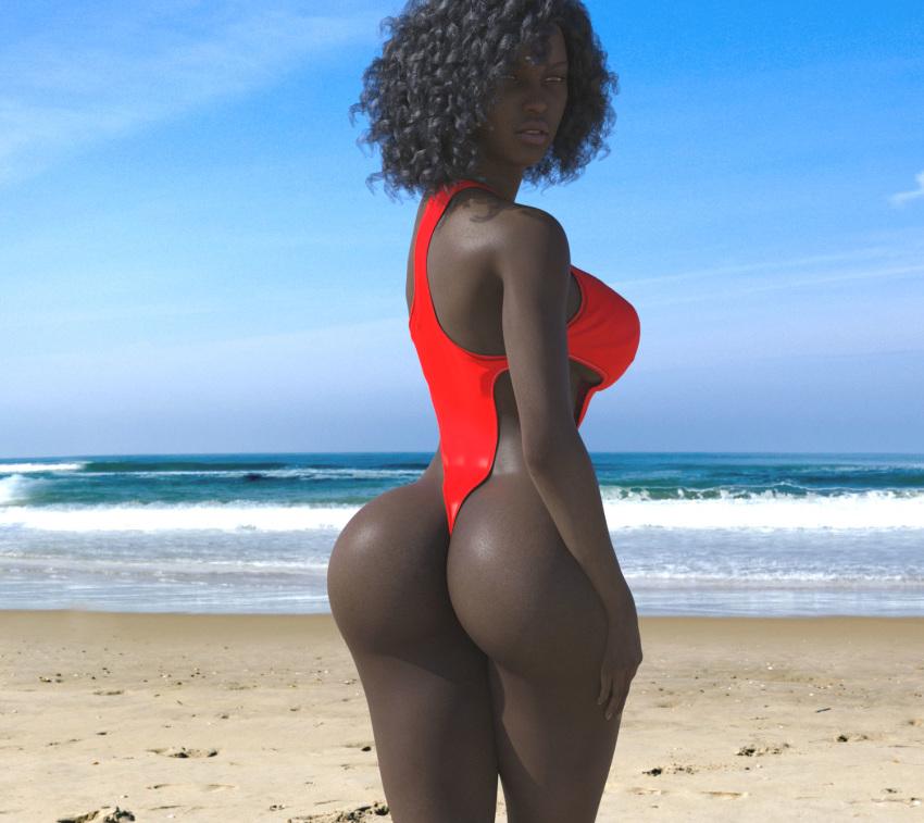 Dark black butt