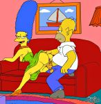 homer_simpson josemalvado marge_simpson tagme the_simpsons yellow_skin  rating:explicit score:18 user:toonhunter