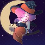 1girl broomstick cosplay halloween hat stockings superspoe witch witch_hat  rating:explicit score:6 user:zipp