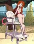 ass big_ass big_breasts breasts dat_ass disney earrings female gravity_falls grimphantom grimphantom_(artist) lifeguard looking_back looking_down one-piece_swimsuit pool red_hair smile solo swimsuit wendy_corduroy rating:Explicit score:119 user:ShadowKing11