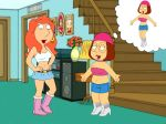 boots breasts family_guy lois_griffin meg_griffin skirt rating:Questionable score:4 user:toonhunter