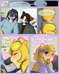 age_difference anthro blush cat comic cub dialogue drychicken english_text erection feline furry girly heart lagomorph male male/male mammal oral penis rabbit speech_bubble text rating:Explicit score:8 user:Furry_Love