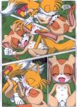 """a_spawing_session_(sonic_the_hedgehog) amy_rose cream_the_rabbit miles_""""tails""""_prower mobius_unleashed multiple_tails palcomix palteam sonic_the_hedgehog tail rating:Explicit score:9 user:Christianmar762"""