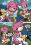 a_spawing_session_(sonic_the_hedgehog) amy_rose cream_the_rabbit mobius_unleashed palcomix palteam sonic_the_hedgehog tail rating:Explicit score:8 user:Christianmar762