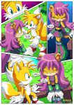1girl 1male a_prowerful_concert_(comic) comic miles_tails_prower mobius_unleashed palcomix rating:Safe score:3 user:Christianmar762