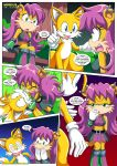 1girl 1male a_prowerful_concert_(comic) comic miles_tails_prower mobius_unleashed palcomix rating:Safe score:4 user:Christianmar762