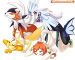 2boys 2girls animal_crossing crossover female freedom_planet isabelle_(animal_crossing) lycanroc male milla_basset nipples pokemon pokemon_(game) pokemon_sm reit saliva silvally vaginal_penetration