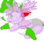 ditto pokemon shaymin shaymin_sky_forme white_background