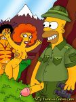 homer_simpson maude_flanders tagme the_simpsons yellow_skin
