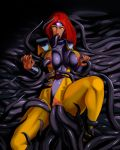 1girl aka6 all_the_way_through anal arm_grab big_breasts bodysuit clitoris clothed_sex crotchless_bodysuit crotchless_clothes jean_grey long_hair marvel nipple_penetration nippleless_bodysuit nippleless_clothes pussy red_hair rolling_eyes solo spread_legs stomach_bulge tentacle tentacle_sex thigh_grab uncensored vaginal x-men