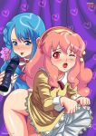 2_girls aida_orine akb0048 blue_hair dildo palcomix palcomix pink_hair sono_chieri undressing yuri