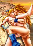 bishoujo_senshi_sailor_moon blonde_hair dragon_ball_z gloves mmg sailor_moon sex son_goku tiara transformation tsukino_usagi twintails usagi_tsukino