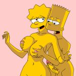 bart_simpson breast_grab breasts brother_and_sister erect_penis gif incest lisa_simpson nipples the_simpsons