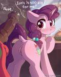 1boy 1girl anus big_macintosh cutie_mark earth_pony english_text erection female_unicorn fensu-san friendship_is_magic horn horsecock looking_at_penis my_little_pony nude open_mouth penis pony pussy speech_bubble sugar_belle tail unicorn