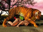 3d animal bestiality doggy_position feline female feral hetero human interspecies male penis tiger zoo