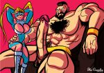 1girl abs big_breasts big_breasts big_penis blonde_hair breasts capcom huge_breasts huge_cock hyper_penis large_penis male muscular penis perky_breasts rainbow_mika sideboob size_difference street_fighter street_fighter_v thecrunchy veins veiny_penis zangief