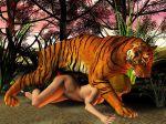 3d animal bestiality feline female feral hetero human interspecies male penis tiger zoo
