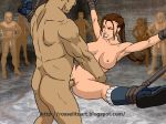 animated armpits ass bald_head basement big_breasts bondage bounce breasts brown_hair erect_nipples gang_bang gif group_sex hair hairless_pussy hetero huge_breasts jiggle lara_croft lipstick love muscle nipples nude penis penis_in_pussy pussy rosselito_(artist) rough_sex sex sexslave spread_legs tomb_raider uncensored vaginal