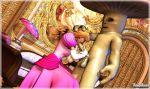 1girl 3d anal breasts fellatio mario_(series) mongobongo_(artist) monster penis princess_peach