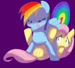 af-js anus blue couple equine female feral fluttershy friendship_is_magic glitter horse my_little_pony oral oral_sex pegasus pony purple purple_background pussy pussylicking rainbow_dash rape_face sex tail unknown_artist wings yellow