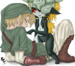 1_boy 1_female 1_girl 1_male blonde_hair blush buttercup_saiyan buttercup_saiyan_(artist) clothed clothed_male_nude_female cowgirl_position duo earings erection female hair hetero legend_of_zelda link long_hair lying male male/female midna nude penetration penis piercing pointy_ears pussy sex size_difference standing the_legend_of_zelda twilight_princess vaginal vaginal_penetration
