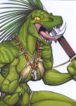barbarian breasts claymore cleavage female furry liz lizardbeth necklace reptile scalie solo sword weapon