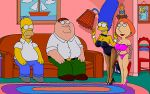 bra crossover family_guy homer_simpson lois_griffin marge_simpson panties pantyhose peter_griffin the_simpsons thighs