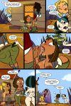 1girl between_labia bridgette_(tdi) comic courtney_(tdi) gwen_(tdi) innie_pussy jab jab_comix oral tagme total_drama_island