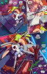 1girl anthro balls breasts canine comic dialogue disney fox fred_perry judy_hopps lagomorph male mammal nick_wilde nipples penis sex sofa speech_bubble straight tagme vaginal_penetration zootopia