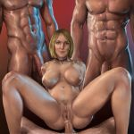 anal_penetration big_breasts blonde bwc collar group_sex pussy slut sweet_josephine trimmed_bush wife