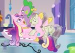 1boy 2_girls age_difference alicorn anilingus anus ass blargsnarf crystal_pony cum cum_in_mouth cutie_mark dragon fellatio fleur_de_verre_(mlp) friendship_is_magic horn indoors interspecies jesterbutts licking_anus male/female male_dragon my_little_pony nude older_female oral penis_in_mouth pony princess_cadance pussy spike_(mlp) threesome wings younger_male
