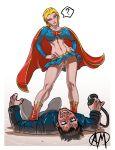blond_hair blue_eyes cd cdau dc exposed ganassa no_panties spread_legs supergirl