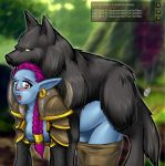 bestiality breasts monster sex troll warcraft wolf worg world_of_warcraft