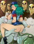 anal ass big_ass big_breasts blue_hair breasts bulbasaur cum cum_inside cum_trail double_penetration gangbang gloves green_hair group_sex hair high_heels huge_breasts huge_penis junsaa_(pokemon) kakuna lipstick long_hair looking_back machamp nipples oc-9 orgasm outdoors outside penis pokemon police primeape red_eyes sex skirt_lift spread_legs surprise tentacle threesome uniform vaginal